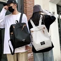 简约大容量防盗书包双肩包男电脑背包15.6寸超火ins工装书包女