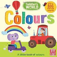 英文原版 颜色认知书 低幼英语启蒙益智早教纸板书 Toddler's World: Colours 儿童英语读物 进口书