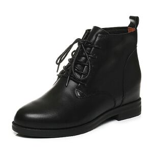 Tata/他她2017秋牛皮绑带方跟休闲靴女短靴FBZ40CD7