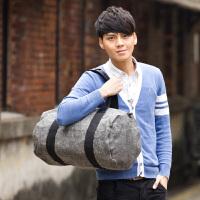 吉野复古帆布包新款韩版休闲男士大包包手提包单肩斜挎包潮流时尚男包包水桶包旅行包803J