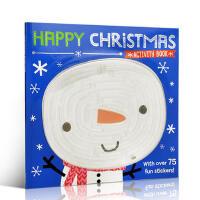 英文原版 Happy Christmas 圣诞节快乐 Activity Book 手工活动书 0-3-6岁低幼儿童启蒙