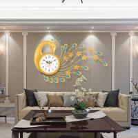 创意个性钟表挂钟客厅大时尚潮流欧式时钟现代豪华静音石英钟挂表 20英寸以上