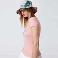 【折后价91.98】Discovery非凡探索户外2018春夏女大帽檐帽子日常防风徒步EELG82213
