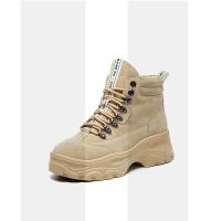 网红短靴女冬季2018新款厚底鞋子瘦瘦加绒靴子ins短筒马丁英伦风SN0453