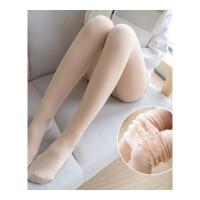 秋冬女新款加厚肉色踩脚袜光腿袜裸腿神器加绒双层假透肉打底裤袜
