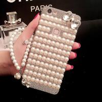 oppo手机壳全包软硅胶套女款R17pro珍珠水钻壳个性创意防摔潮 +手链