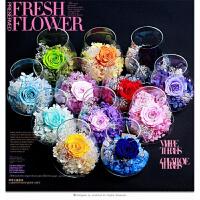 12星座永生花玻璃罩手工制作保鲜玫瑰花情人节纪念日礼品