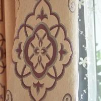 窗帘成品加厚 雪尼尔 遮光 双层竖条纹简约现代