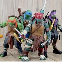 儿童玩具电影忍者神龟带武器手办模型 拉斐尔关节可活动玩偶摆件