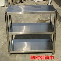 厨房置物架微波炉架3层收纳储物架加厚不锈钢落地家用不锈钢货架4