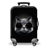 行李箱套保护套拉杆箱旅行箱男女罩2024寸28寸高弹力加厚印花猫狗 眼镜猫 L