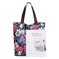 2018春新款户外大容量便携折叠包购物袋韩版包包单肩包女包旅行包