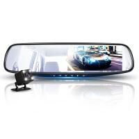 新款汽车行车记录仪双镜头高清夜视24小时监控360度全景倒车影像