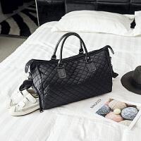 短途旅行包男潮出差手提包大容量旅游包简约行李包袋防水健身包女 黑色. 升级版带鞋位