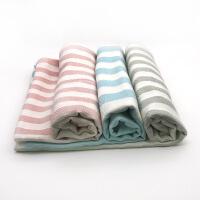 春夏婴儿宝宝毯竹纤维冰丝毯条纹毯儿童盖毯抱被夏凉被儿童空调毯