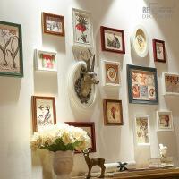 都多爱家实木照片墙相框现代清新客厅创意相片北欧式组合美式复古