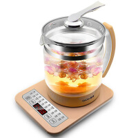 家用自动不锈钢开水壶加厚玻璃花茶煎药煮茶器电热烧水壶