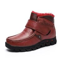 兔毛雪地靴女2018冬季新款加绒保暖真皮妈妈棉鞋中老年棉鞋保暖鞋