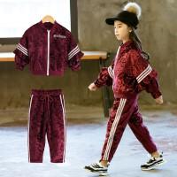 女童秋装长袖时髦洋气秋季童装韩版运动服两件套儿童套装