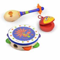 宝宝玩具奥尔夫启蒙乐器组合铃鼓沙锤响板儿童木质启蒙