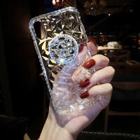 新款苹果X手机壳女iPhone7plus软硅胶套透明防摔6s气囊支架8p水钻 iphone 6/6s(4.7) 透明白