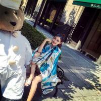 夏季海边沙滩防晒披肩女士围巾两用韩版厚款民族风旅游大丝巾 180*100cm