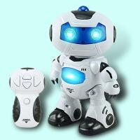 儿童益智自动演示机器人模型玩具 灯光音乐遥控跳舞机器人