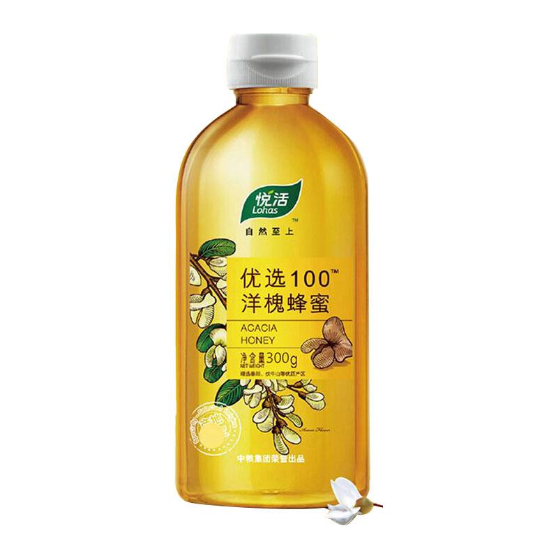 悦活优选100洋槐蜂蜜300g*2