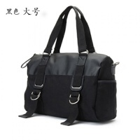 韩版男士旅行包手提包大容量休闲包单肩斜挎包帆布男包大挎包潮包