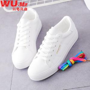 乌龟先森 帆布鞋 女士春夏季新款百搭小白鞋女式韩版潮流时尚运动休闲鞋子