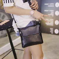 迷你小包包韩版夏季单肩包时尚女士斜挎包女包小方包 黑色