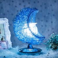 典范创意水晶台灯婚庆装饰灯卧室床头灯生日礼物温馨玫瑰花香薰灯