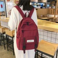 书包女高中大学生双肩包古着感大容量百搭背包