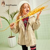 【2件5折:232.5元】暇步士童装女童外套春秋装新款儿童时髦风衣中大童拉链休闲上衣