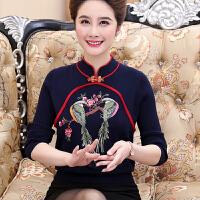 中老年秋冬装毛衣女套头40岁以上妈妈穿的打底羊毛衫加厚针织衫60