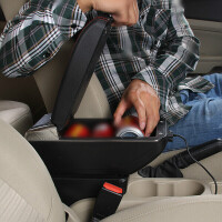 一汽新老款夏利N5扶手箱汽车手扶免打孔改装配件