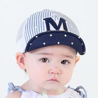 新生婴儿帽夏天棒球帽遮阳帽儿童防晒宝宝帽子夏潮6245