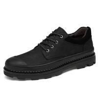 特大码男士休闲皮鞋男45真皮大头鞋46厚底加大号47户外工装鞋