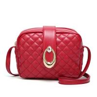 女包包2019新款黑菱格包潮流单肩斜挎包红色手提包