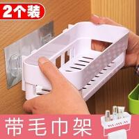 浴室黑色落地卫生间置物架壁挂收纳架子吸盘式洗衣液肥皂盒三角架