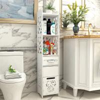 家居生活用品浴室落地置物架洗手间夹缝柜储物柜卫生间收纳柜厕所马桶边柜 高120CM/宽30CM/深30CM 带垃圾桶