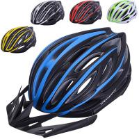 山地自行车头盔安全帽带警示灯 一体成型骑行头盔