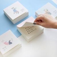 韩国便捷记事本创意可撕空白可爱猫の物语方形便签本便条300张