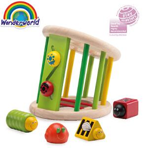 [当当自营]泰国Wonderworld 动感花园 宝宝智力玩具早教 立体几何形状认知盒