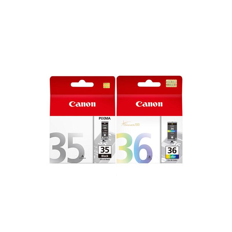 佳能原装 PGI-35黑色墨盒 CLI-36彩色墨盒 佳能 CANON IP100打印机墨盒 满99元包邮!满300元送佳能相纸一包!