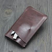适用飞利浦充电宝保护套 移动电源收纳包 袋皮套配件皮包 双层 路易棕