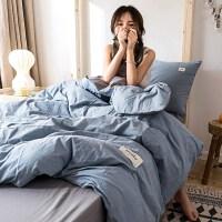高中生宿舍床上三件套网红款住宿粉色夏旅馆用品女生极简主义