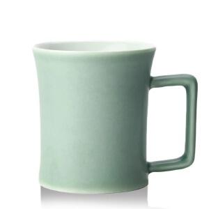 乾唐轩活瓷杯幸福咖啡杯360ml创意陶瓷简约办公茶水杯子女礼品