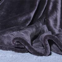 毛巾被 小毛毯子单人冬天厚珊瑚法兰绒毛毯被子冬季厚款 车用毛毯 70cmX100cm