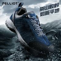 法国PELLIOT登山鞋 男女秋冬防滑运动户外鞋透气低帮轻便徒步鞋